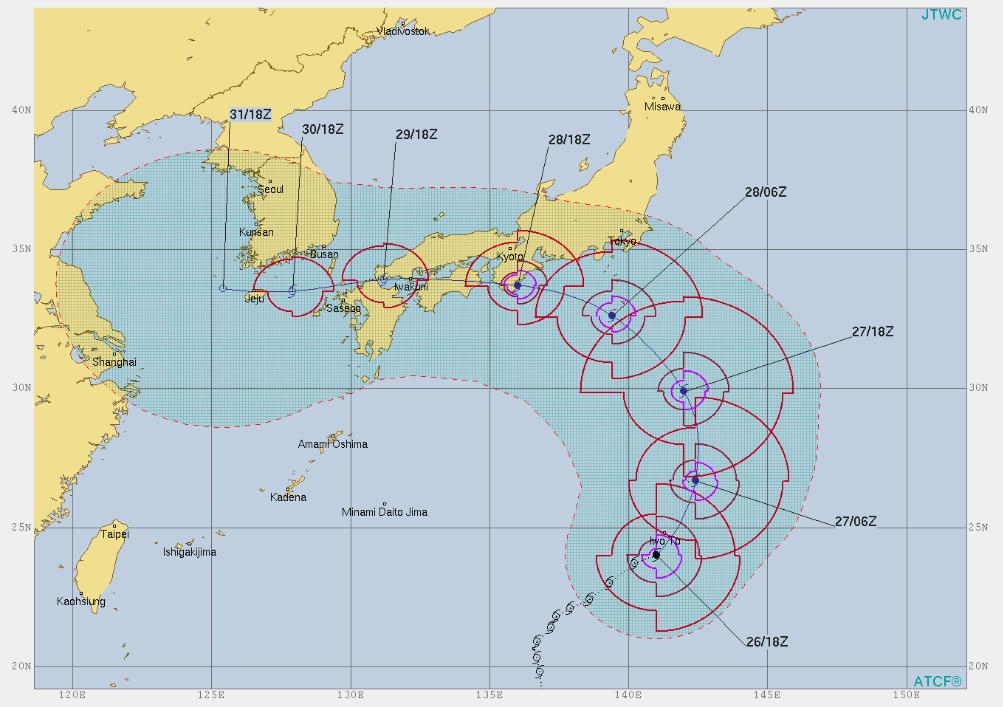天気予報 日本 米軍 米軍 天気予報