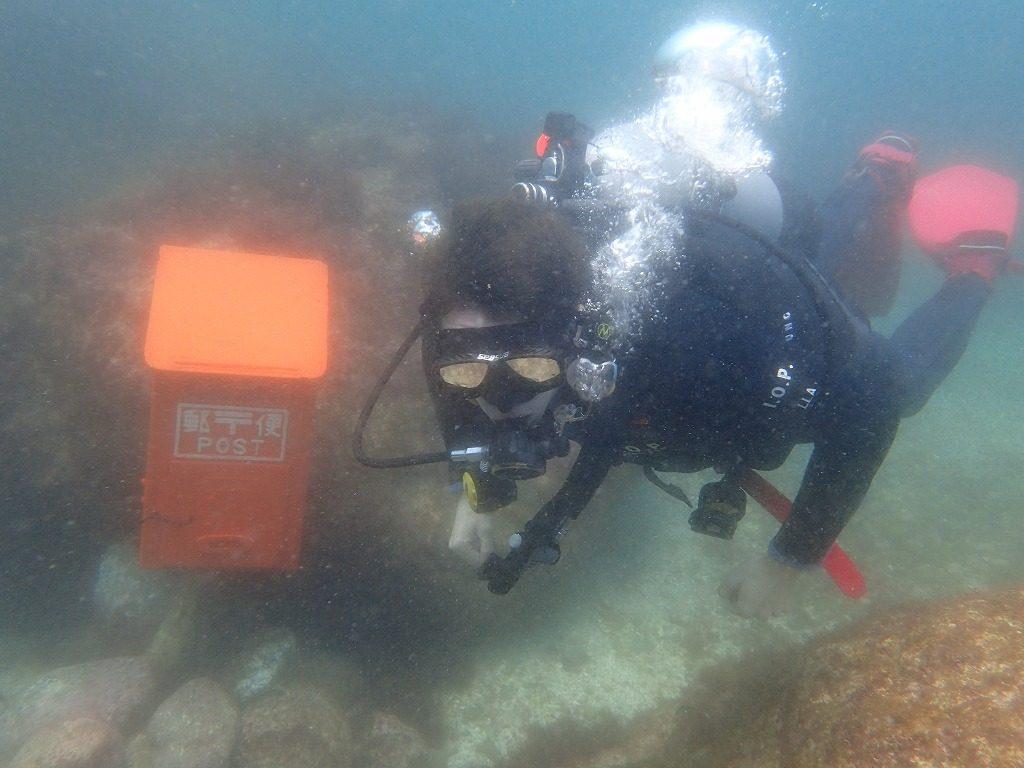 オクリダシエリアの水中ポスト