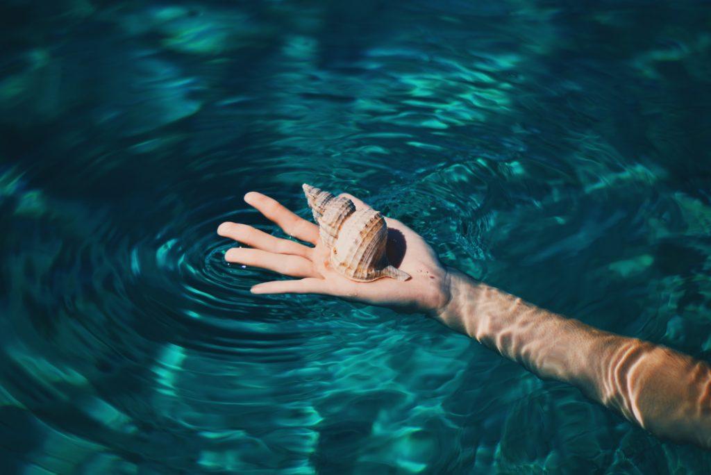 貝を持つ人