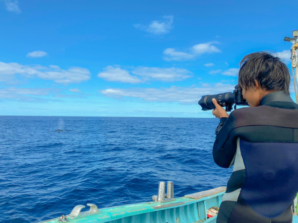 カメラを構える茂野優太