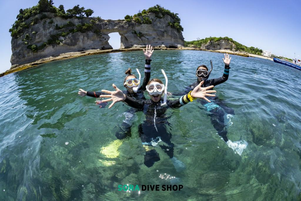 SORA DIVE SHOP水面イメージ写真