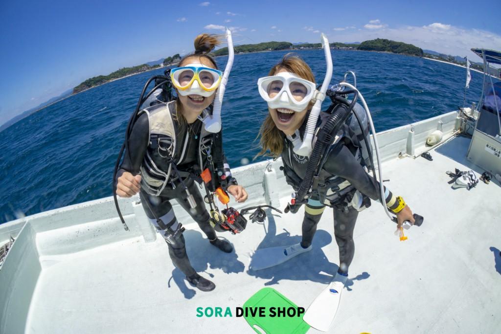 SORA DIVE SHOPボート上イメージ写真