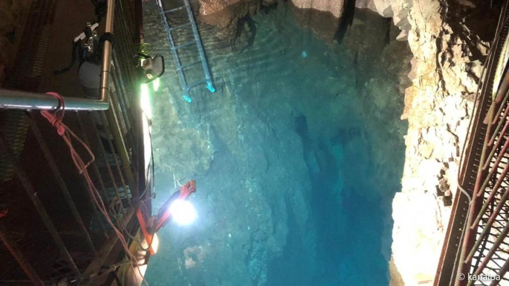稲積水中鍾乳洞のエントリー口