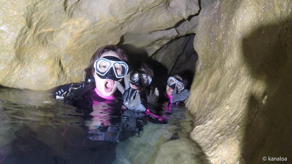 稲積水中鍾乳洞・鍾乳洞入り口付近
