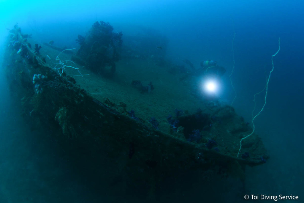 ダイビングスポット・土肥の沈船