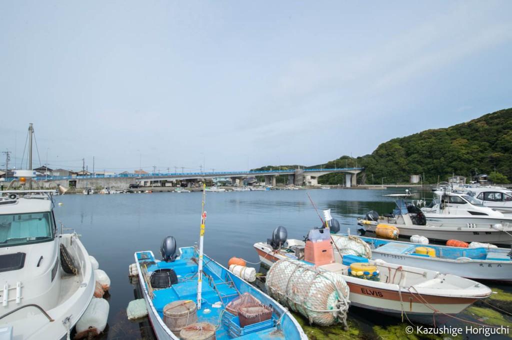 青海大橋を渡り青海島へ