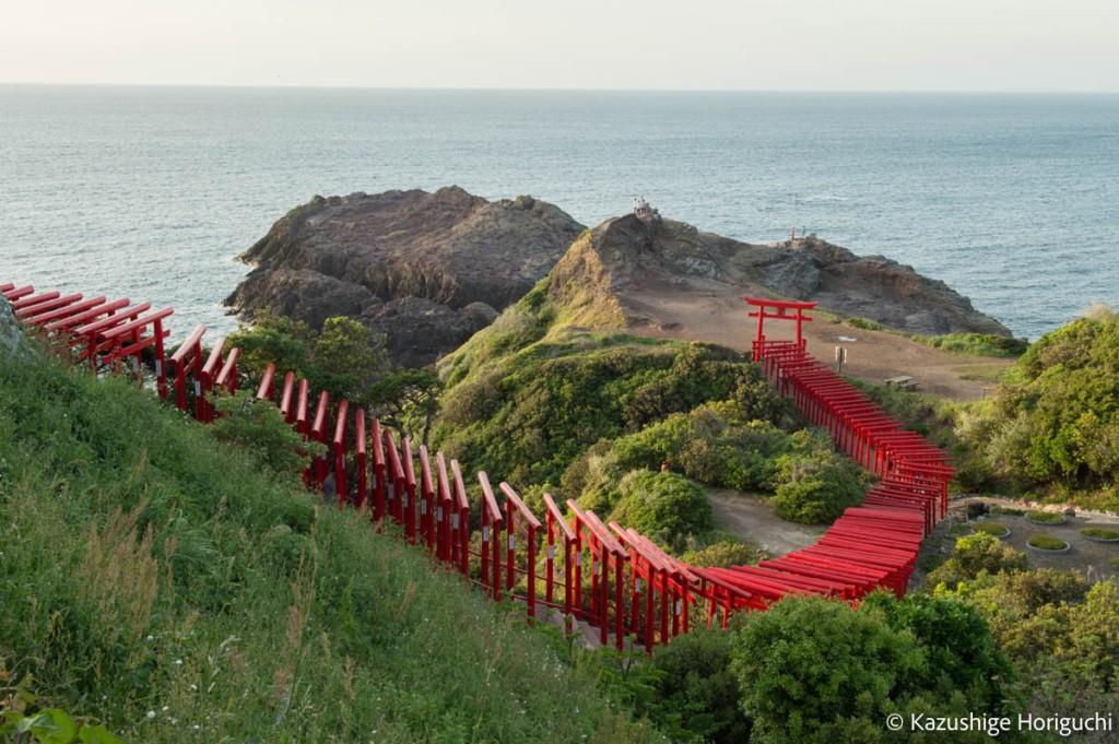 元乃隅神社は123基の鳥居が並ぶ