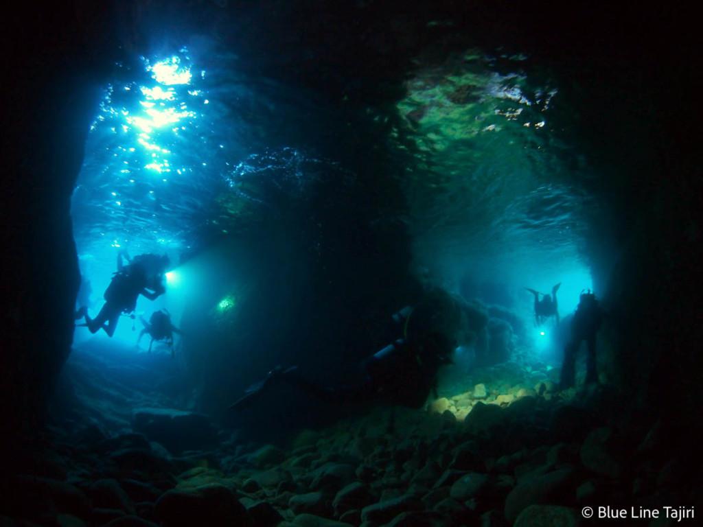 ダイビングスポット田後・菜種島の洞窟