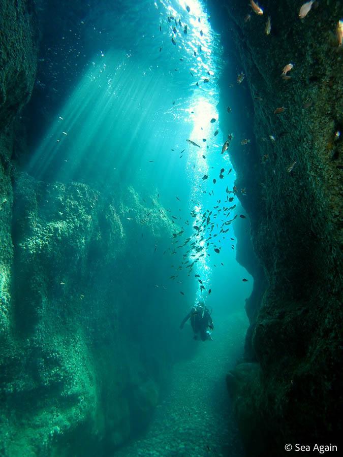 青海島の水中地形